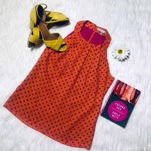 Beautiful Pink & Orange Geometric Pattern Tank Top
